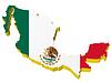 3D-Landkarte von Mexiko