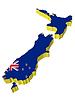 3D-Landkarte von Neuseeland