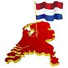 Landkarte der Niederlande mit nationaler Flagge