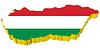 3D-Karte von Ungarn