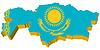 3D-Karte von Kasachstan