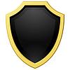 goldenen Schild mit dunklem Hintergrund