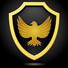 ID 3266934 | Golden shield on black background with an | Klipart wektorowy | KLIPARTO