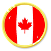 Knopf mit Flagge Kanada