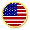 Knopf mit Flagge Vereinigte Staaten