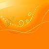 Abstract orange Hintergrund mit Strudeln.
