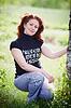공원에서 아름 다운 여자 | Stock Foto