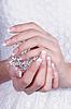 매니큐어와 아름 다운 여성의 손 | Stock Foto