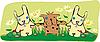 ID 3161494 | Kaninchen und Hund an der Wiese | Stock Vektorgrafik | CLIPARTO
