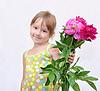 Dziecka i kwiaty | Stock Foto