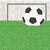 Fußball auf dem grünen Feld | Stock Vektrografik
