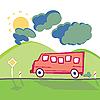 Bus an der Bergstraße