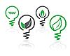 Środowisko ikony green żarówki | Stock Vector Graphics