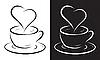 Kaffeetasse mit Herz-Symbol | Stock Vektrografik