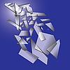 Sinkende Glasscherben | Stock Vektrografik
