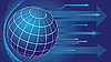 Globus und Pfeile Hintergrund | Stock Vektrografik