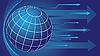 Globus i strzałki w tle | Stock Vector Graphics