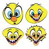 Set von lustigen und hässlichen Smileys | Stock Vektrografik