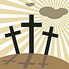Wielki Piątek - dzień Wielkanoc - Krzyże | Stock Vector Graphics