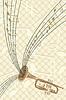 Векторный клипарт: музыкальная труба с нотами