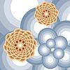 abstrakte runde Blume