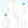 Milk packages | Stock Vector Graphics