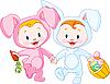 Ostern Hasen-Babys