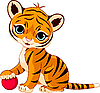 Słodkie tiger cub   Stock Vector Graphics