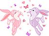 ID 3184776 | 발렌타인 토끼 | 벡터 클립 아트 | CLIPARTO