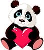 niedlicher Panda mit Herzen