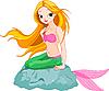 Schöne Meerjungfrau