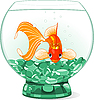 Cartoon Goldfisch-Königin im Aquarium