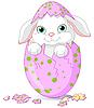 Osterhase-Baby ist von einem Ei geschlüpft