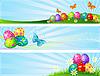 Różne transparenty Wielkanoc | Stock Vector Graphics