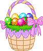 Koszyk wielkanocny z kolorowych jaj | Stock Vector Graphics