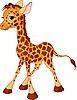 Векторный клипарт: маленький детеныш жирафа