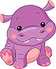 Funny Hippo   Stock Vector Graphics