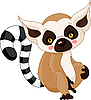 Śmieszne Lemur   Stock Vector Graphics
