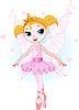 Nette Ballerina als Fee