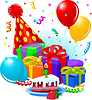 Geschenke und Dekorationen zum Geburtstag