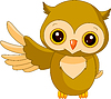 Funny owl   Stock Vector Graphics