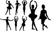 силуэты балерин