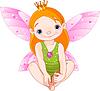 Kleine Fee-Prinzessin | Stock Vektrografik