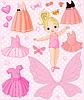 Baby-Mädchenmit Ballett- und PrinzessinKleidern