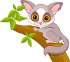 Funny Galago | Stock Vector Graphics