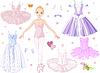 Ballerina mit Kostümen