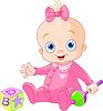 nettes Baby-Mädchen