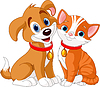 Katze und Hund | Stock Vektrografik