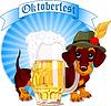 Hund am Oktoberfest