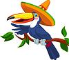 Toucan mit Sombrero